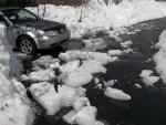 Ice chunks in driveway