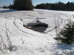 April 12: Sea ice melting
